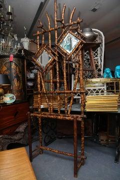Elaborate 19th Century English Bamboo Hall Stand