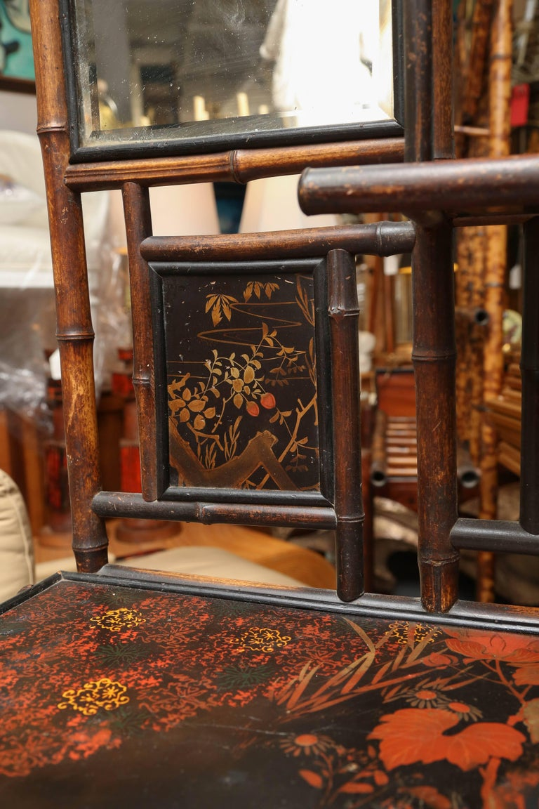 Superb 19th Century Chinoiserie English Bamboo Side Cabinet or Bookcase For Sale 3