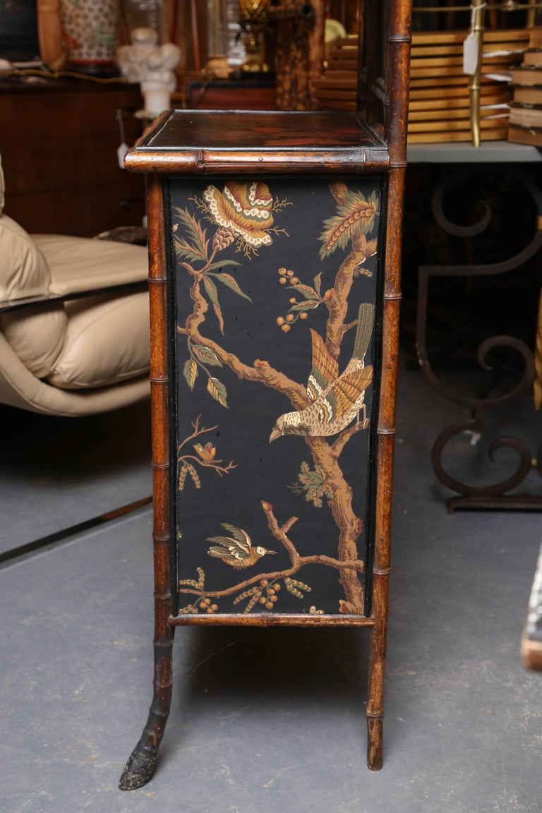 Superb 19th Century Chinoiserie English Bamboo Side Cabinet or Bookcase For Sale 5