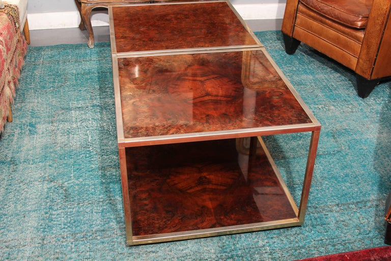 Pair of French Olivewood Low Tables For Sale 3