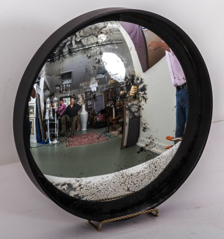 Industrial Antique Convex Mirror, Offered by Fork and Rose In Good Condition For Sale In Southampton, NY