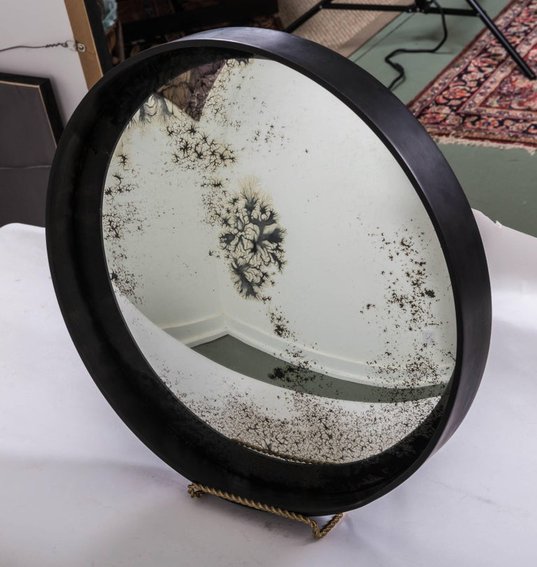 Industrial Antique Convex Mirror, Offered by Fork and Rose For Sale 1
