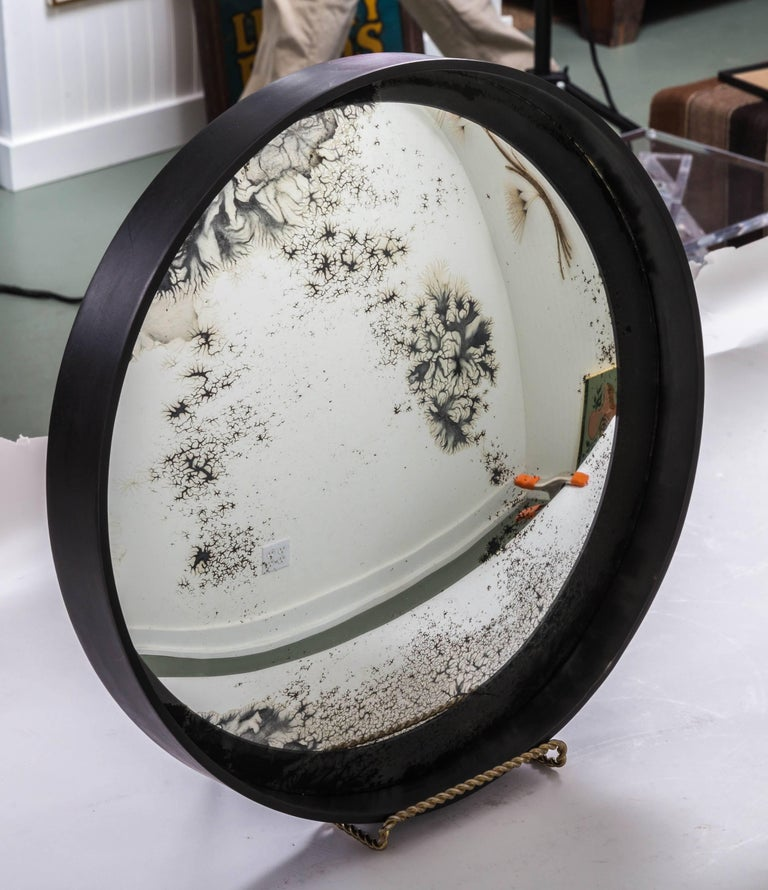 Industrial Antique Convex Mirror, Offered by Fork and Rose For Sale 2