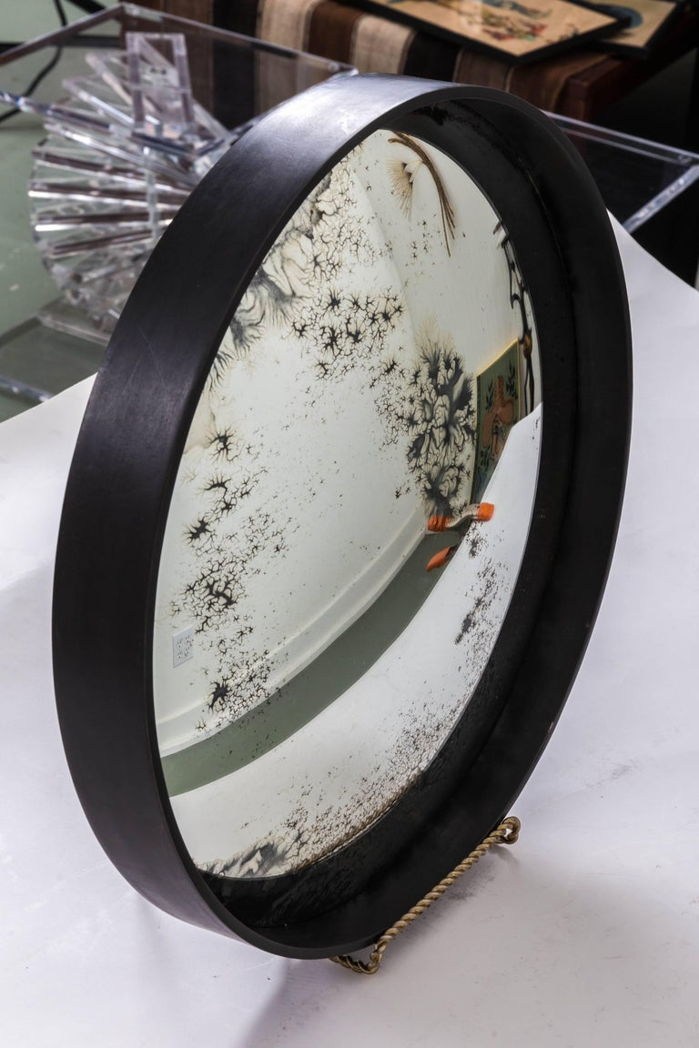 Industrial Antique Convex Mirror, Offered by Fork and Rose For Sale 3