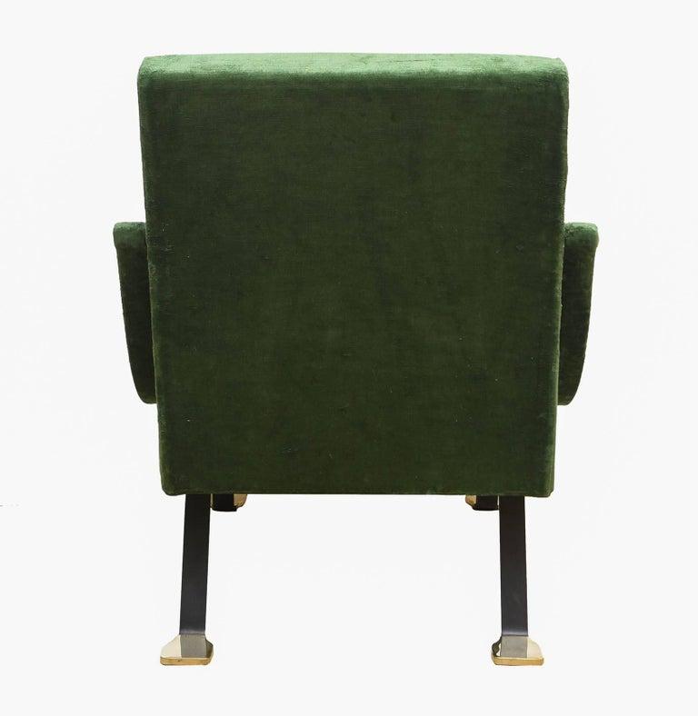 """Lacquered 1950s """"Digamma"""" Ignazio Gardella Gavina Green Armchair For Sale"""