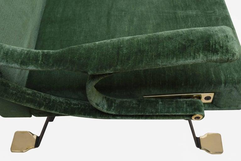 "1950s ""Digamma"" Ignazio Gardella Gavina Green Armchair 6"