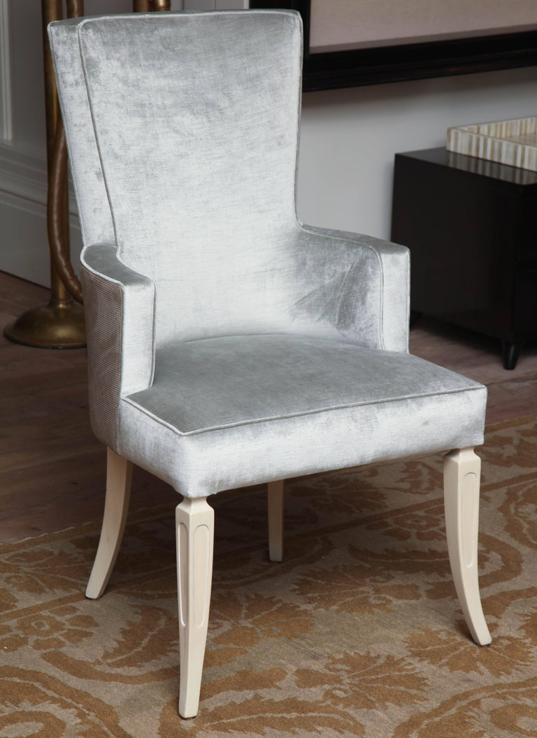 Set of four wingback dining chairs for sale at 1stdibs for Wingback dining room chairs for sale