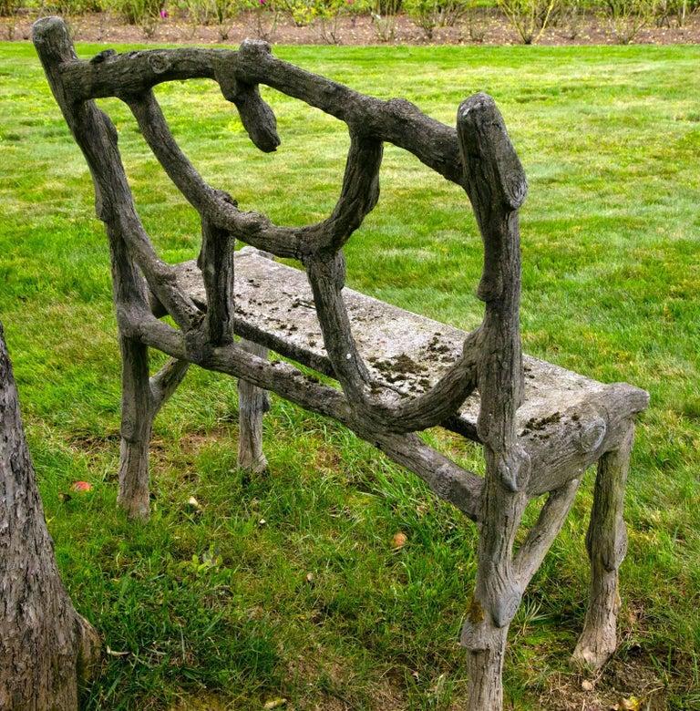 Rare Faux Bois Love Seat For Sale 1