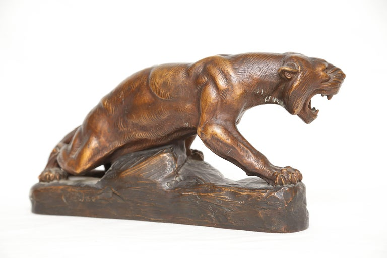 French Terra Cotta Figure of a Tiger For Sale