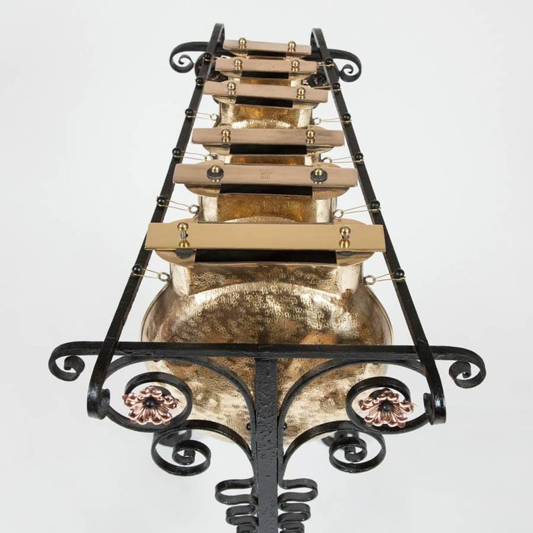 19th Century Arts and Crafts Glockenspiel by Plant & Perry, circa 1890 For Sale