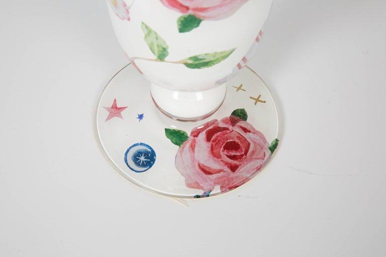 Découpage Cathy Graham Decoupage Venetian Vase For Sale