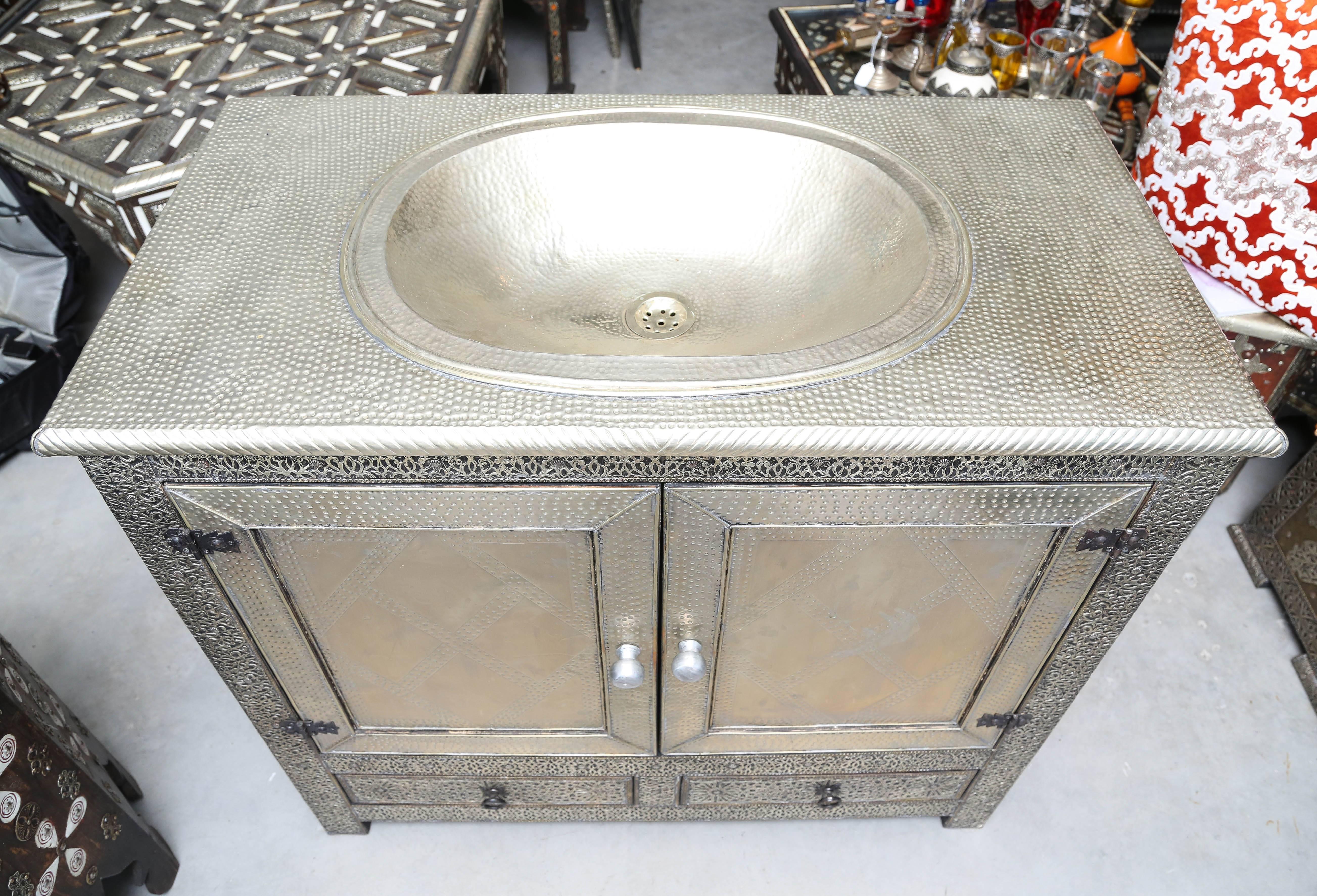 Superb Moroccan Bathroom Single Sink Vanity At 1stdibs