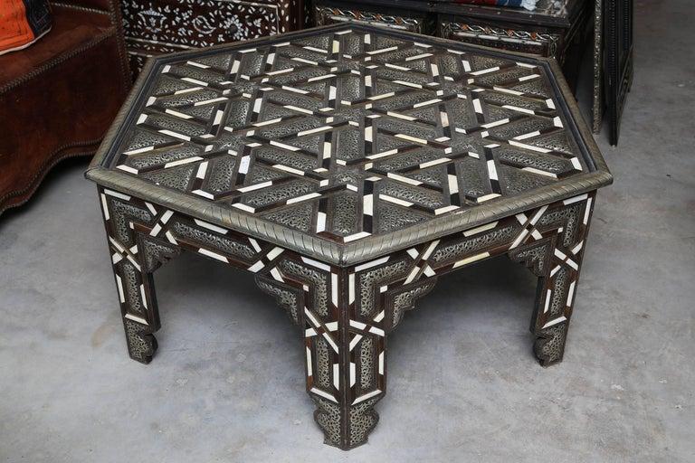 Superb Hexagonal Moroccan Coffee Table At 1stdibs
