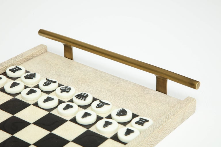 French Shagreen Chess Game, France Offered by Area ID For Sale