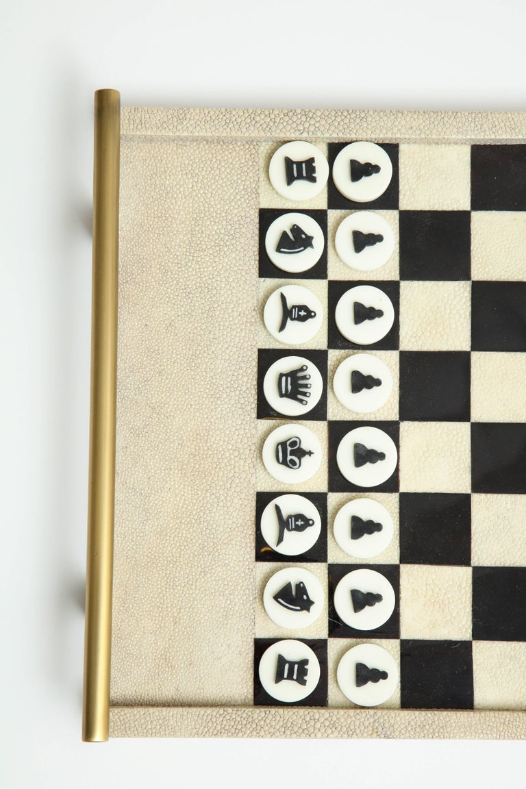 Contemporary Shagreen Chess Game, France Offered by Area ID For Sale