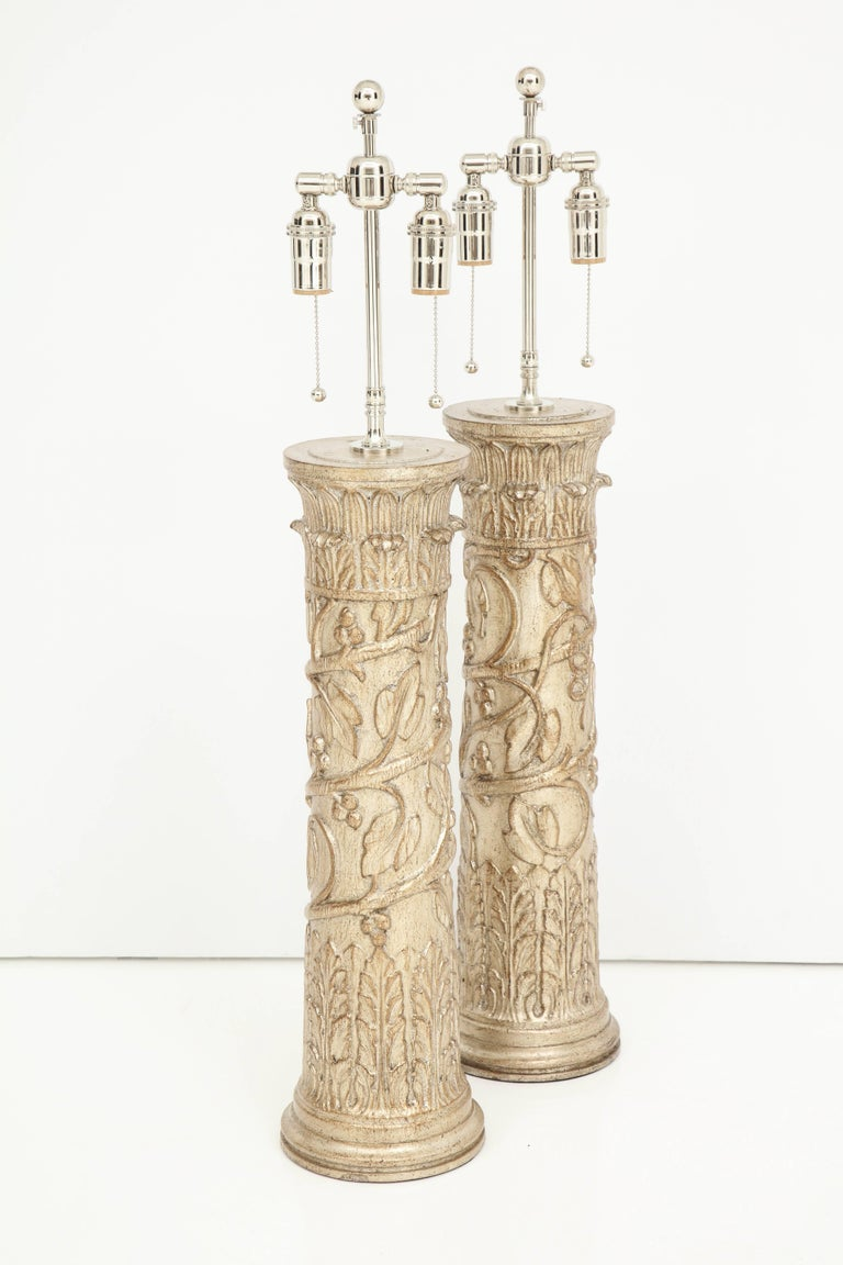 Pair of James Mont Lamps For Sale 1