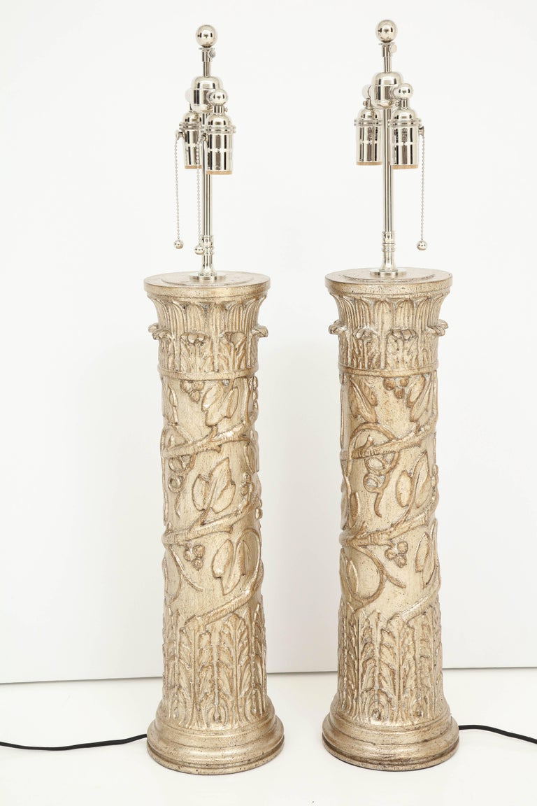 Pair of James Mont Lamps For Sale 2