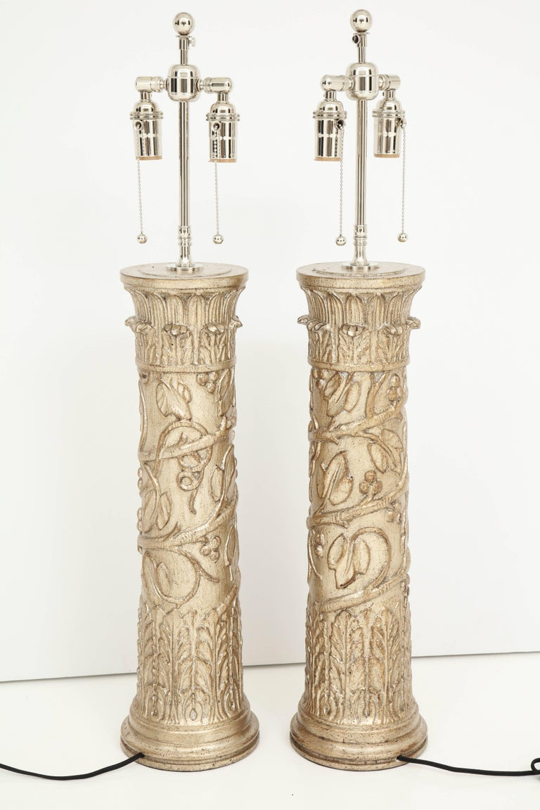 Pair of James Mont Lamps For Sale 3