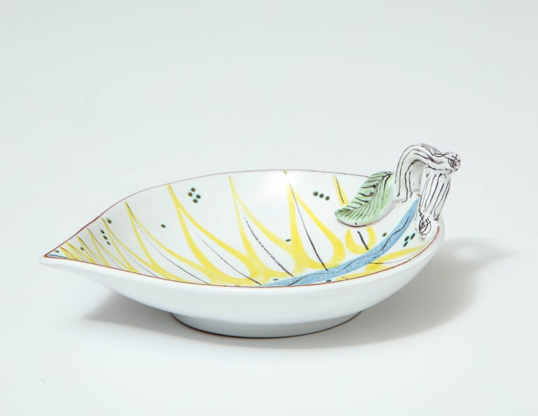 Faience Pottery Bowl by Stig Lindberg, Sweden, circa 1950 For Sale