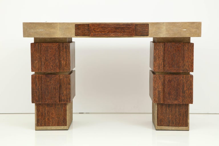 Art Deco Shagreen and Palm Wood Desk, Offered by Area ID For Sale