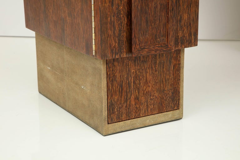 Contemporary Shagreen and Palm Wood Desk, Offered by Area ID For Sale