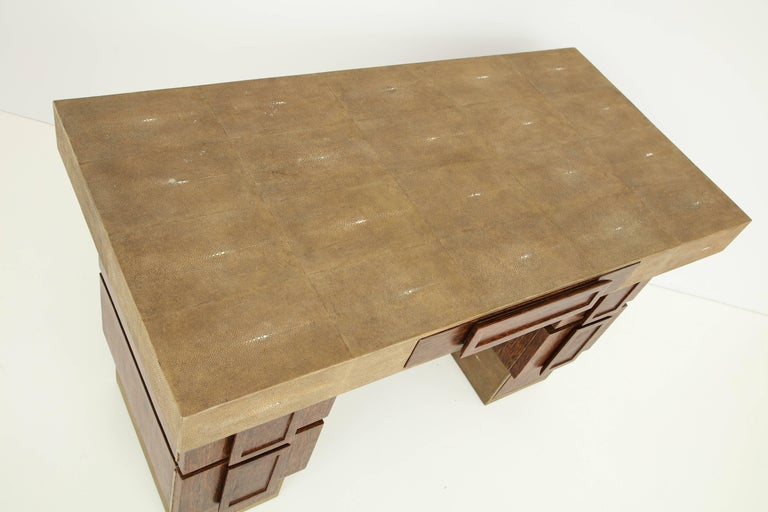 Shagreen and Palm Wood Desk, Offered by Area ID For Sale 1