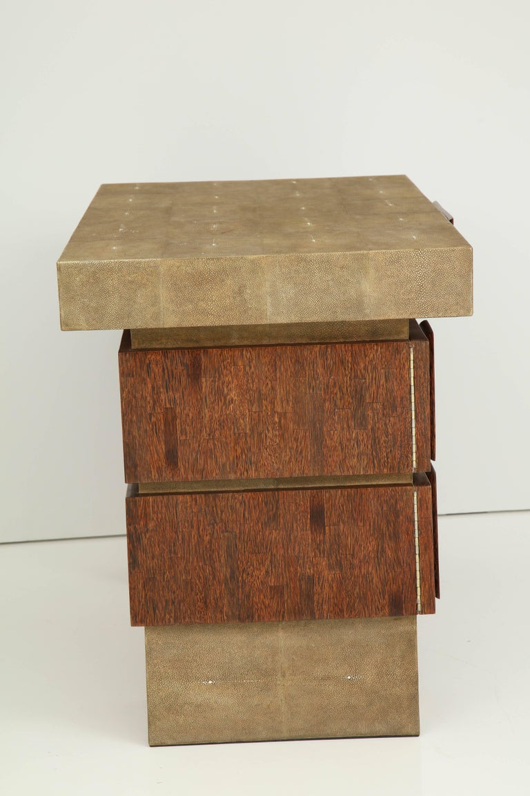 Shagreen and Palm Wood Desk, Offered by Area ID For Sale 2