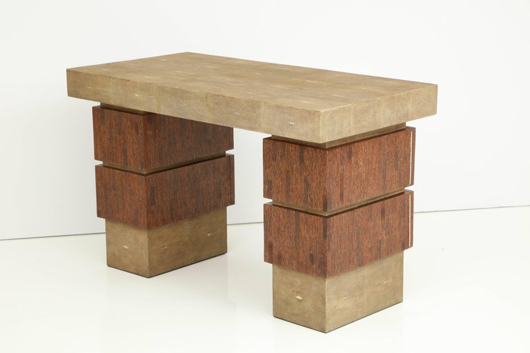 Shagreen and Palm Wood Desk, Offered by Area ID For Sale 3