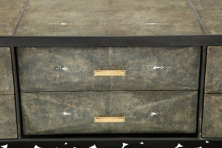 Shagreen Cabinet, Offered by Area ID In Excellent Condition For Sale In New York, NY