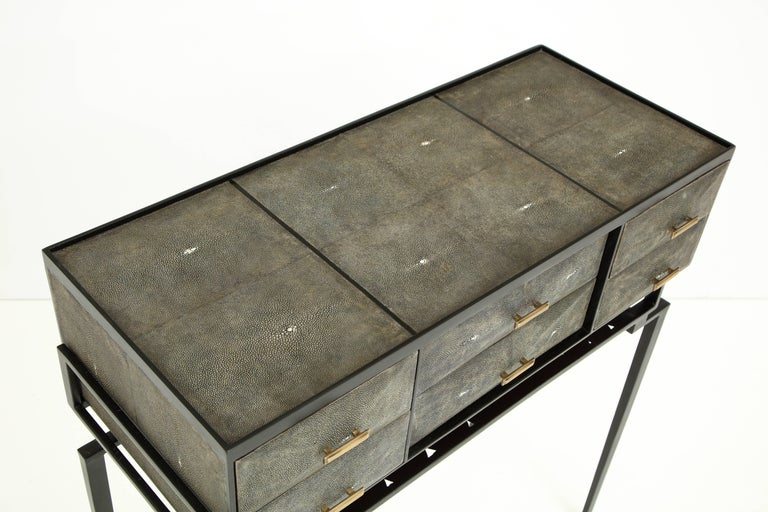 Contemporary Shagreen Cabinet, Offered by Area ID For Sale