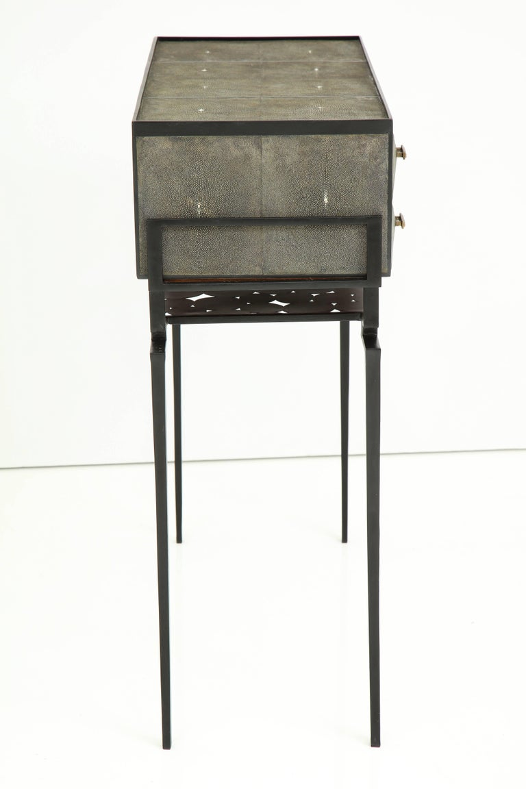 Bronze Shagreen Cabinet, Offered by Area ID For Sale