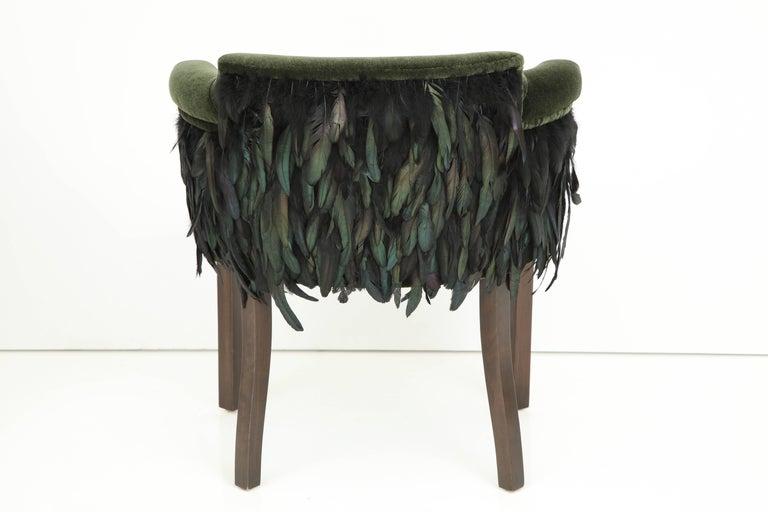 Austrian Mohair/Feather Art Deco Salon Chairs For Sale 5