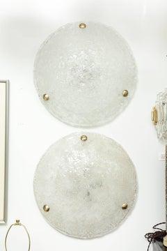 XL Kalmar Ice Glass Flushmount, Sconces