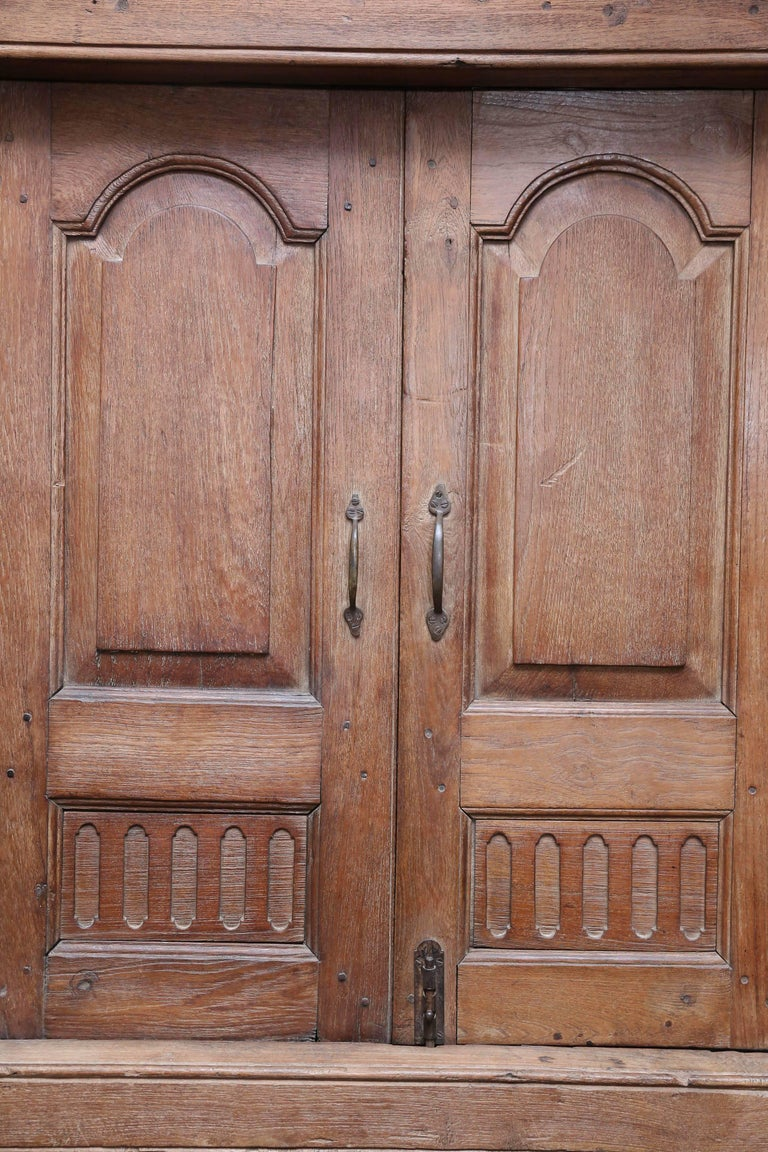 Other 1820s Solid Teak Wood Window from a Portuguese Colonial Cathedral For Sale
