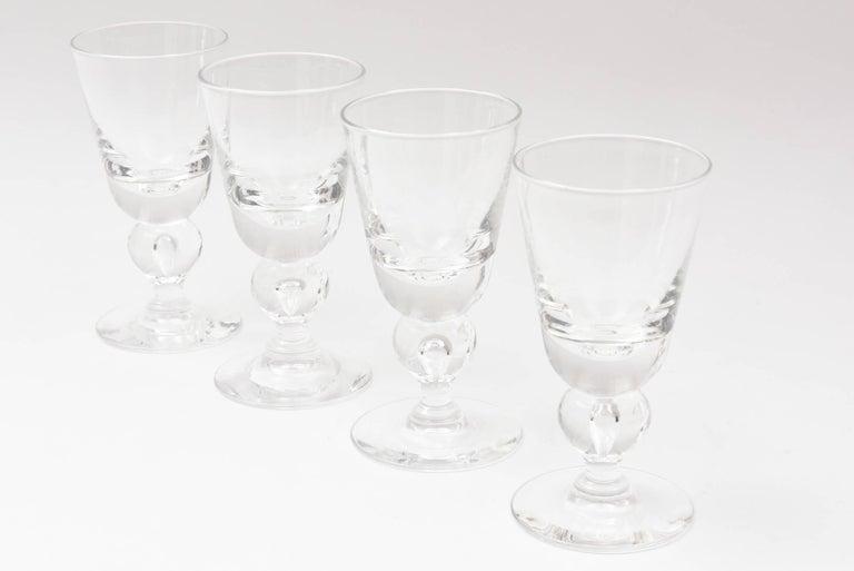 abcc43f056e American Four Steuben Wine Glasses