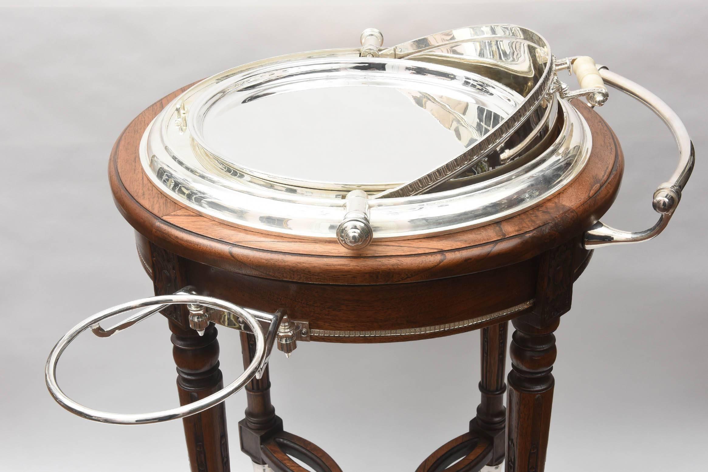 Impressive vintage italian silver plate carving station or