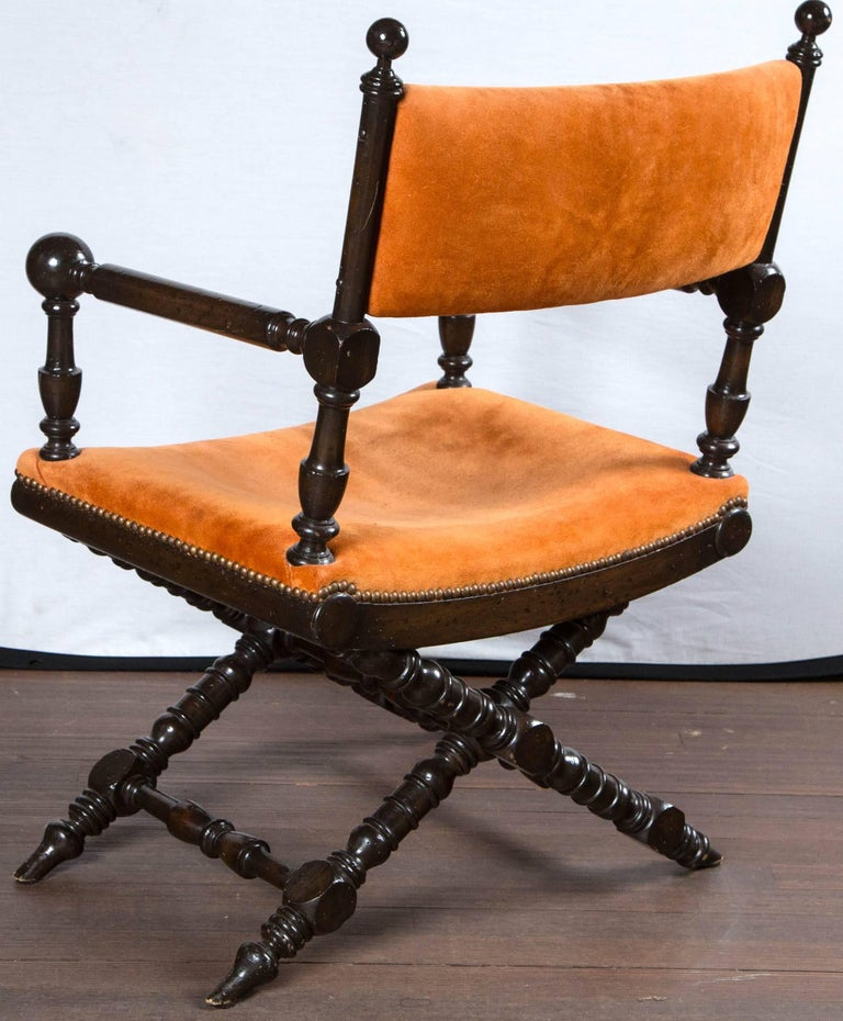 Orange Suede Director's Chair For Sale 2