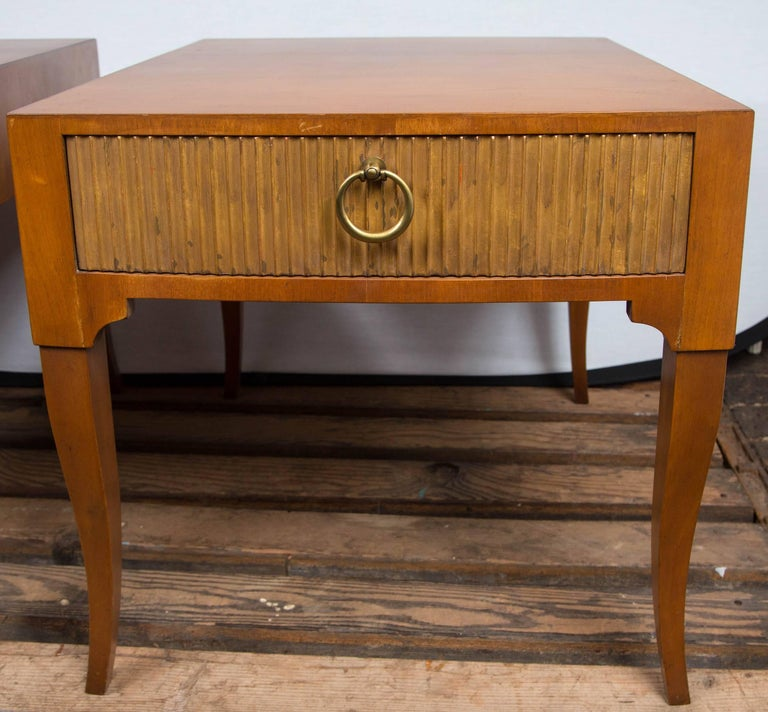 Late 20th Century Mid-Century Modern End Tables by Baker For Sale