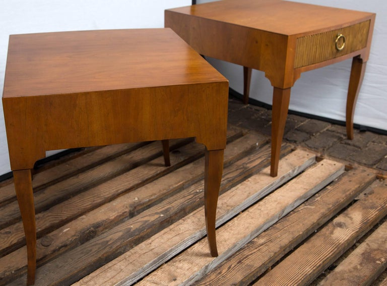 Mid-Century Modern End Tables by Baker For Sale 6