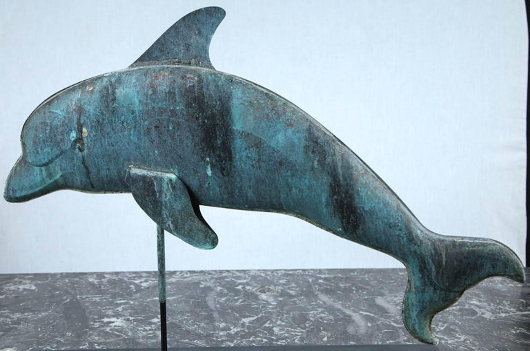 Dolphin Weathervane In Excellent Condition For Sale In Stamford, CT