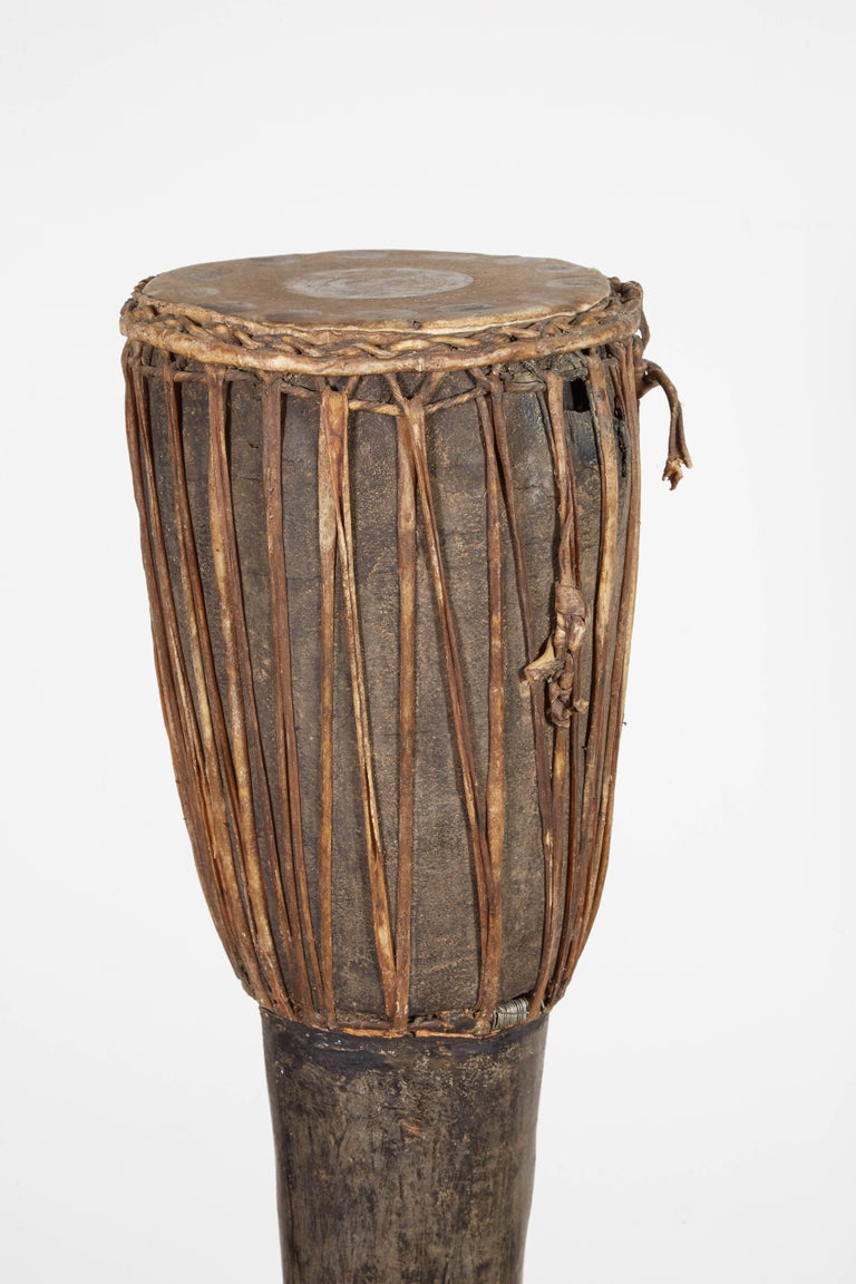 Tall, Primitive Antique Hill Tribe Drum from Thailand For Sale 3