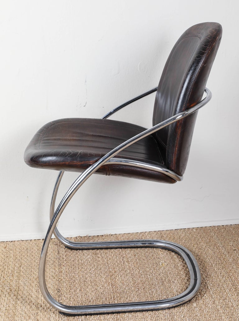 20th Century Midcentury Tubular Chrome Chair   One chair SOLD For Sale