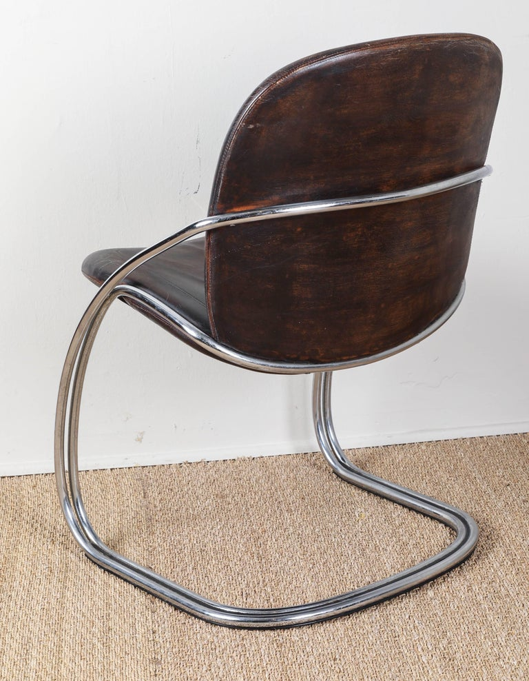 Midcentury Tubular Chrome Chair   One chair SOLD For Sale 1