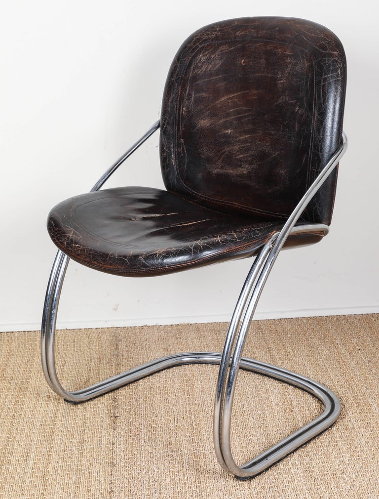 Midcentury Tubular Chrome Chair   One chair SOLD For Sale 3
