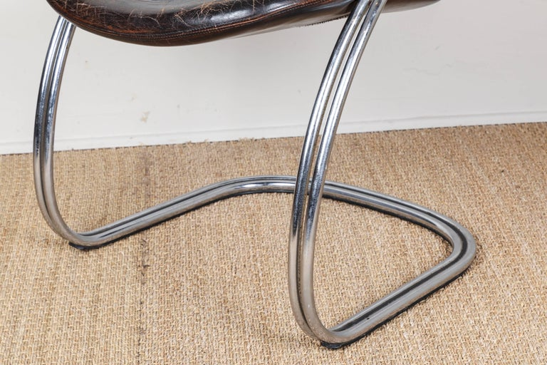 Midcentury Tubular Chrome Chair   One chair SOLD For Sale 4