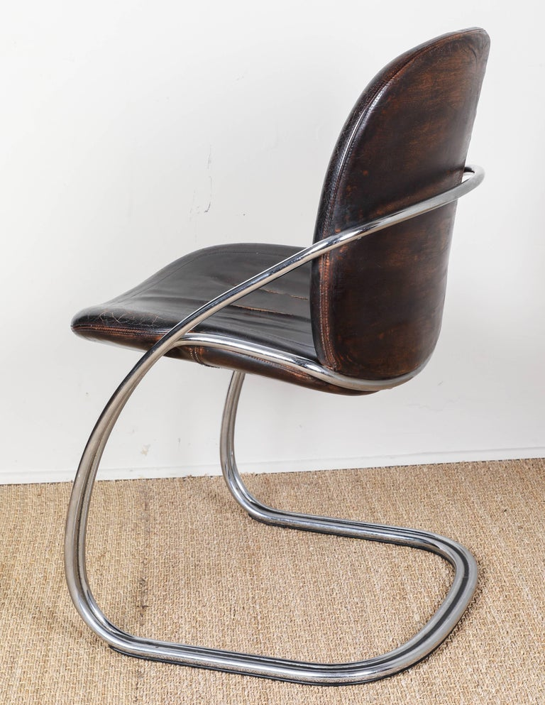 Midcentury Tubular Chrome Chair   One chair SOLD For Sale 5