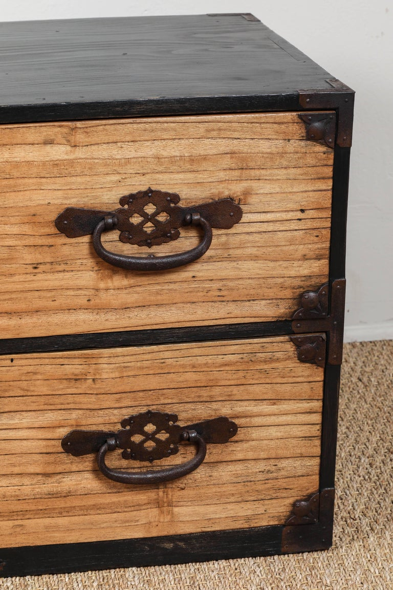 Antique Japanese Two-Piece Tansu 6