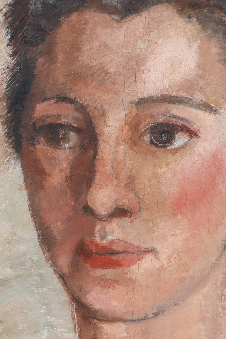 English Portrait of a Woman For Sale