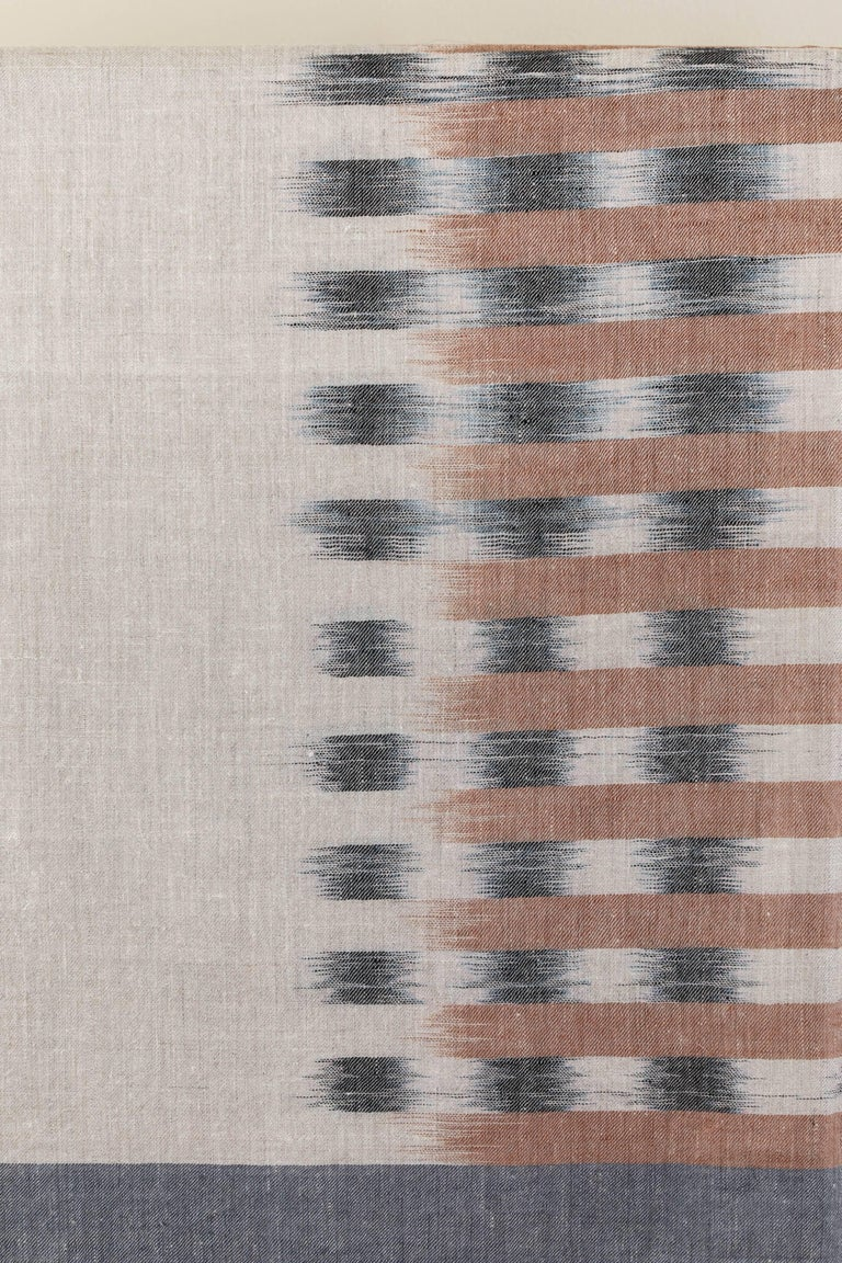 Ikat Woven Cashmere Throw 2