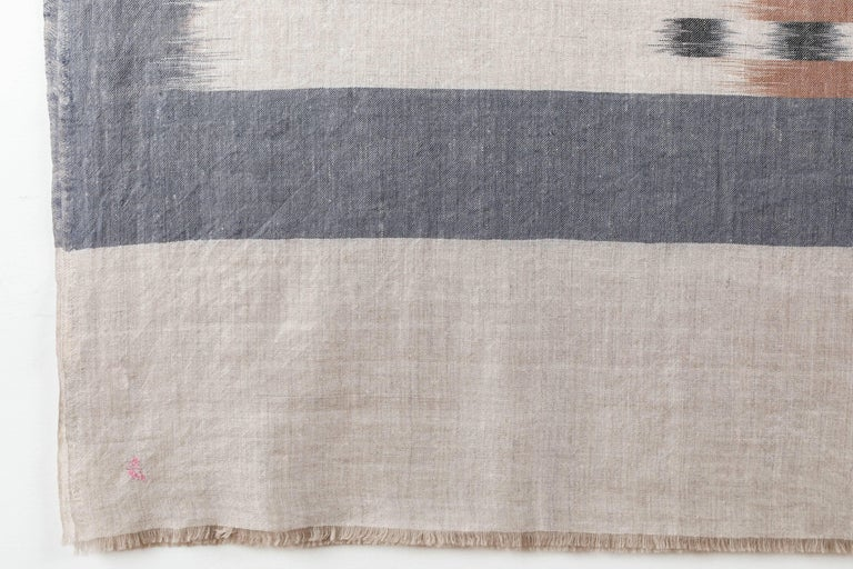Indian Ikat Woven Cashmere Throw For Sale